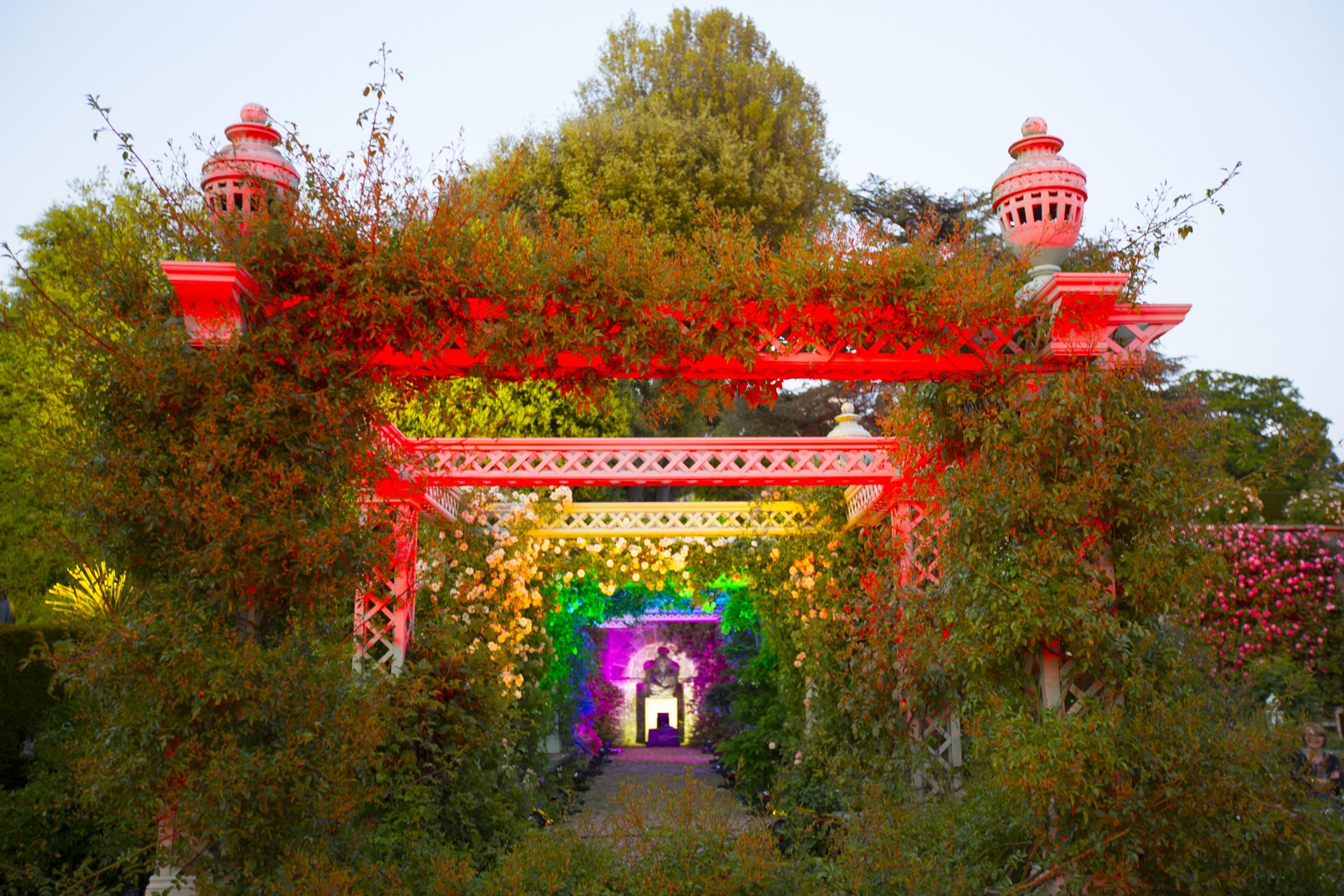 Bodnant Garden Lit Lighting Pergola Trellis 7961