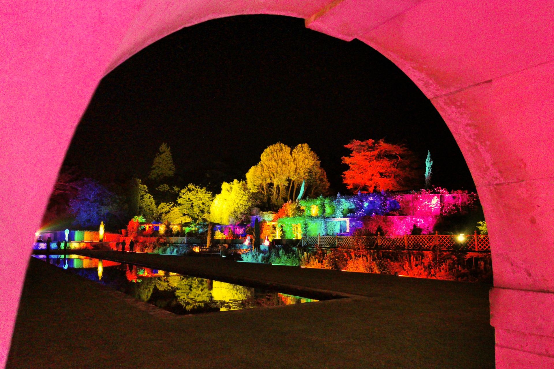 Bodnant Garden Lit Lighting Terrace Pin Mill 2838 Copy InPixio